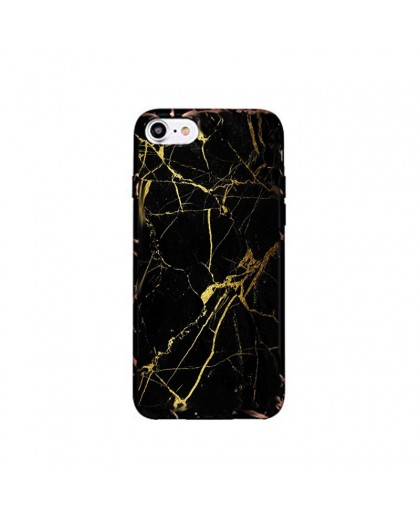 Black Marble Look TPU Case iPhone 7 / 8