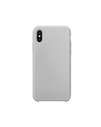 Liquid Silicone Case iPhone XS / X - Grijs