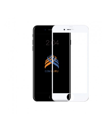 5D Wit Tempered Glass iPhone 6 Plus / 6S Plus Screenprotector