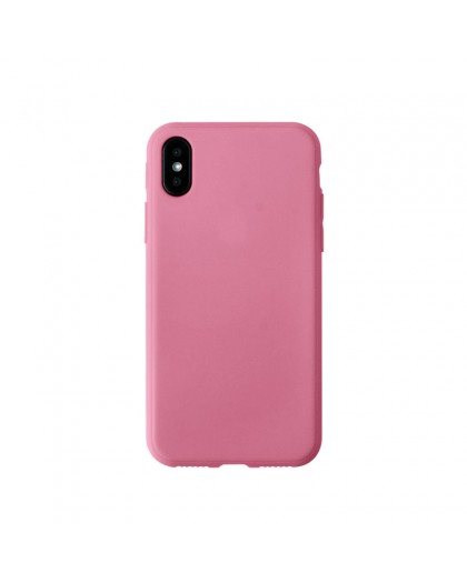 Solid Color TPU Case iPhone XS / X - Roze