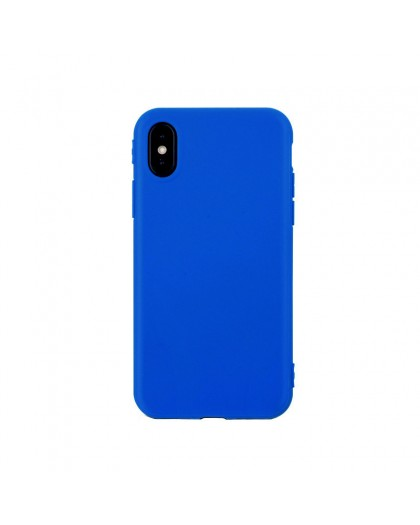 Solid Color TPU Case iPhone XS / X - Blauw