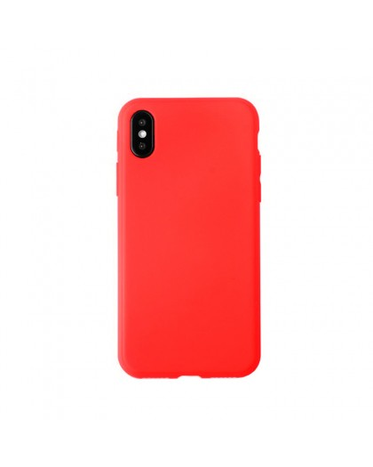 Solid Color TPU Case iPhone XS / X - Red
