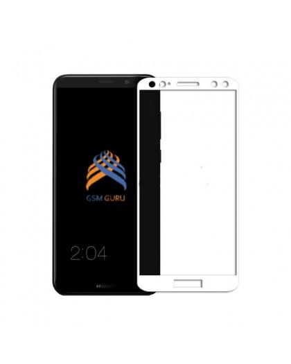 Gehärtetes Glas Full Glue Weiss Displayschutz Huawei Mate 10 Lite
