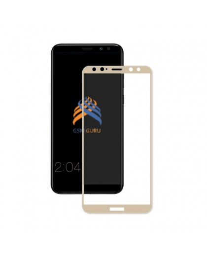 Gehärtetes Glas Full Glue Gold Displayschutz Huawei Mate 10 Lite