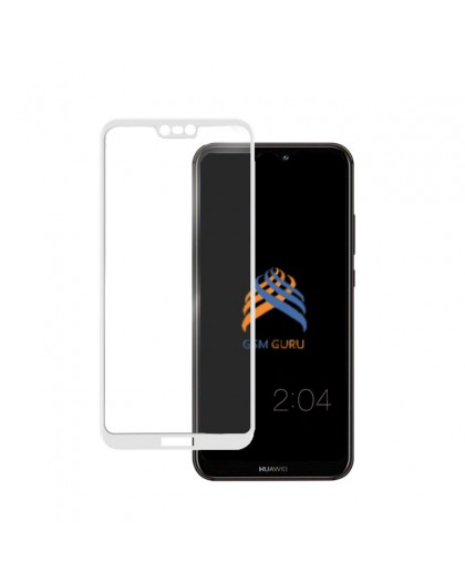 Tempered Glass Full Glue White Screen Protector Huawei P20 Lite