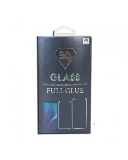 Tempered Glass Full Glue Black Screen Protector Samsung Galaxy A8 Plus 2018