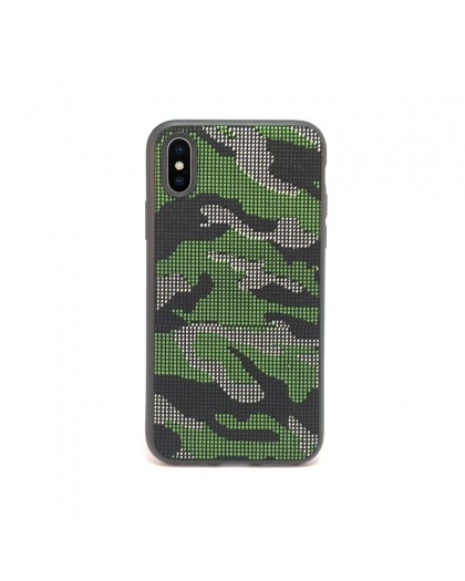 Dot Design Camouflage Siliconen Hoes iPhone XS / X