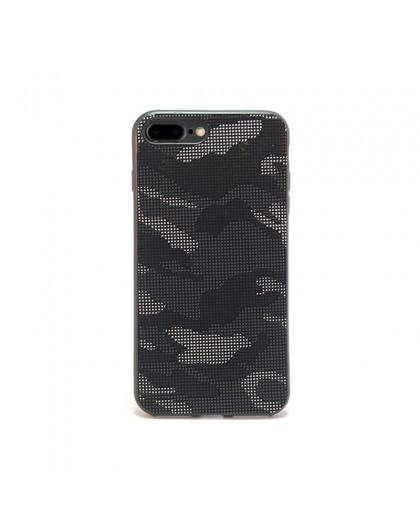 Dot Design Schwarz Tarnung Silikonhülle iPhone 8 Plus / 7 Plus
