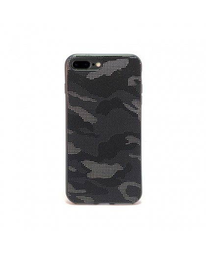 Dot Design Zwart Camouflage Siliconen Hoesje iPhone 8 Plus / 7 Plus