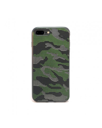 Dot Design Camouflage Siliconen Hoesje iPhone 8 Plus / 7 Plus