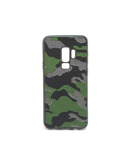Dot Design Zwart Camouflage Siliconen Hoesje Galaxy S9 Plus