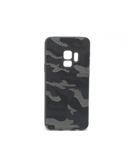 Dot Design Black Camouflage Silicone Case Galaxy S9