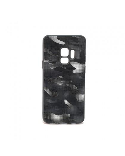 Dot Design Zwart Camouflage Siliconen Hoesje Galaxy S9