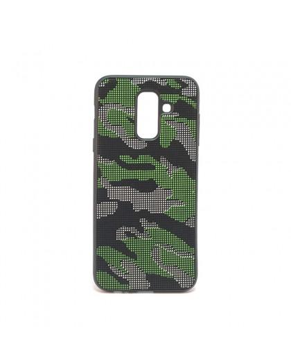 Dot Design Camouflage Siliconen Hoesje Galaxy A6 Plus