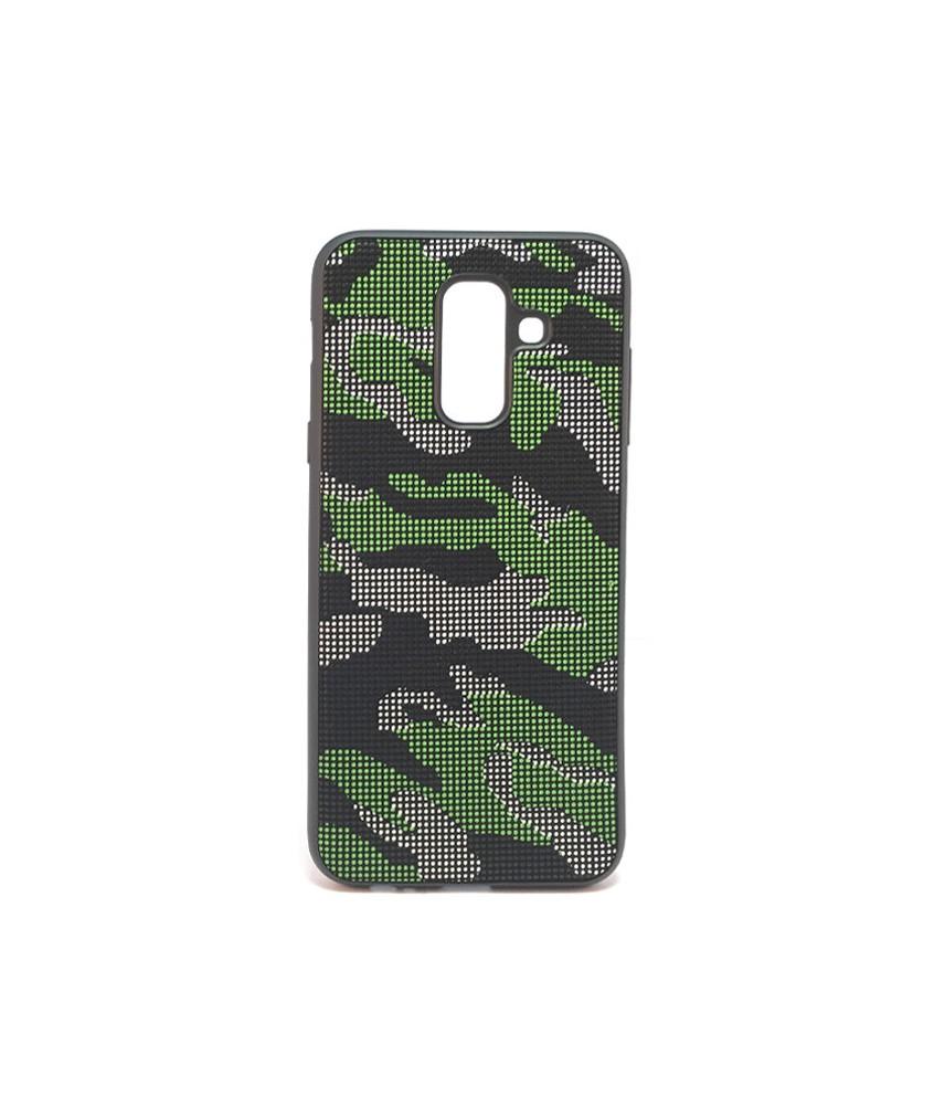 Dot Design Camouflage Silicone Case Galaxy A6 Plus