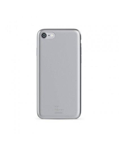 BeHello iPhone 8/7/6S/6 Soft Touch Gel Case Silber