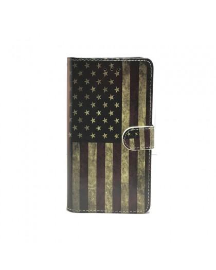 Vintage USA TPU-Buchhülle iPhone XS Max