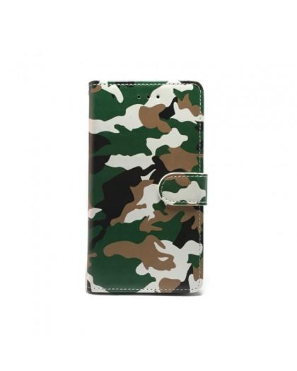 Armee-Tarnungsgrün TPU Buchhülle iPhone XR