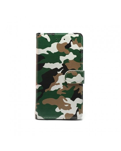Army Camouflage Green TPU Book Case iPhone XR