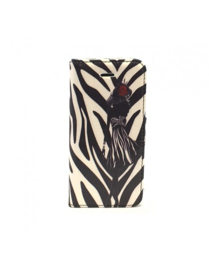 Zebra Bookcase voor iPhone SE / 5s / 5