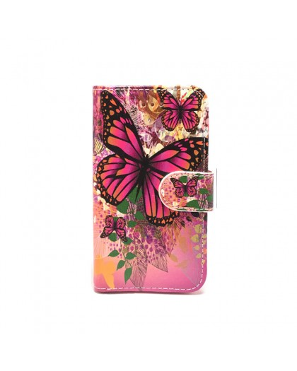 Wallet Case Butterfly Print iPhone SE/5S/5