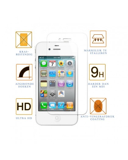 Tempered Glass Screenprotector Voor iPhone 4 / 4S