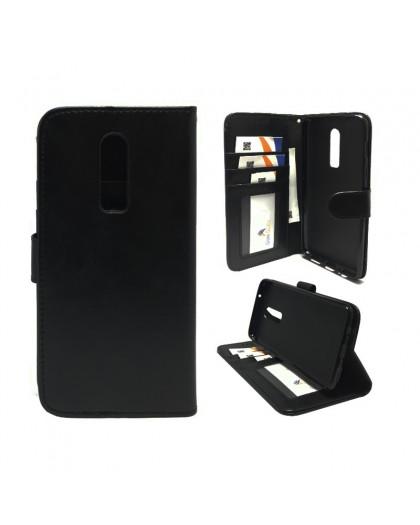 Classic Zwart Booktype Hoesje OnePlus 6