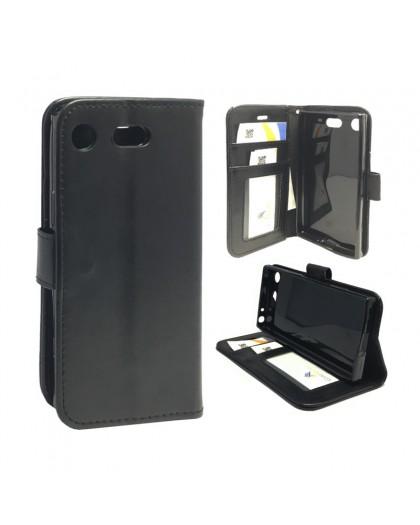 Classic Black Bookcase Sony Xperia XZ1 Compact