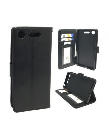 Classic Black Bookcase Sony Xperia XZ1