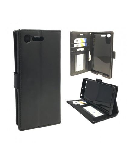 Classic Schwarzes Booktype Hülle Sony Xperia XZ Premium