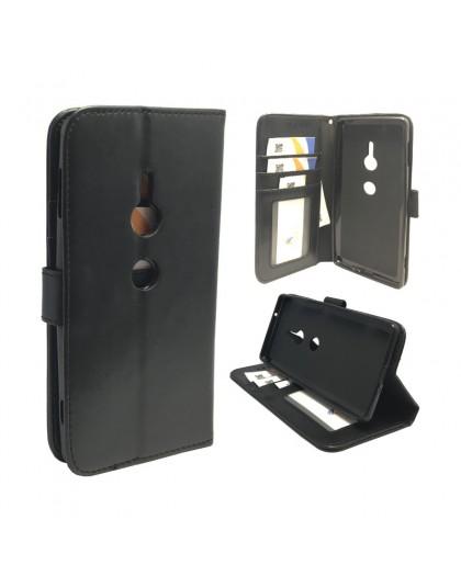 Classic Black Bookcase Sony Xperia XZ2