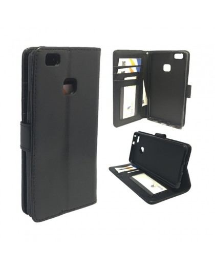 Classic Black Bookcase Huawei P9 Lite