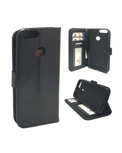 Classic Zwart Booktype Hoesje Huawei P smart