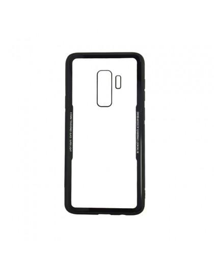 Gehard Glas TPU Bumper Hoesje Voor Samsung Galaxy S9 Plus - Zwart