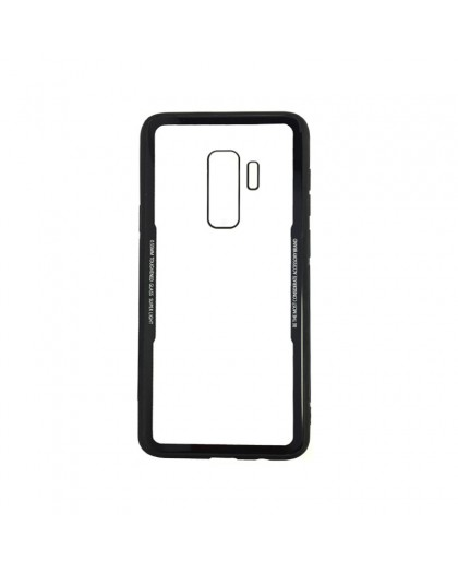 Tempered Glass TPU Bumper Case for Samsung Galaxy S9 Plus - Black