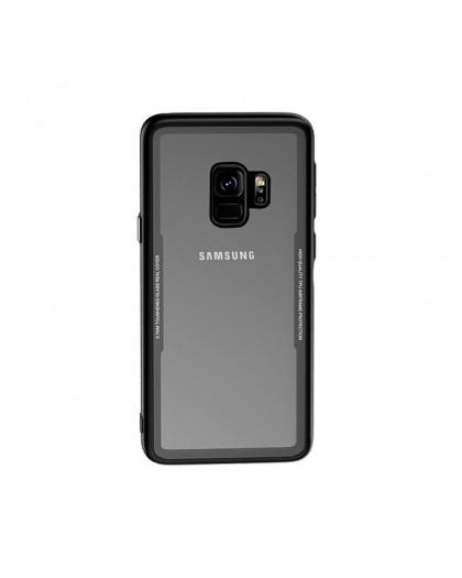 Gehard Glas TPU Bumper Hoesje Voor Samsung Galaxy S9 - Zwart
