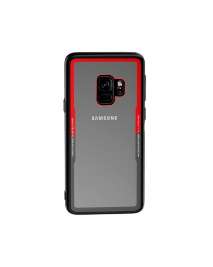 Tempered Glass TPU Bumper Case for Samsung Galaxy S9 - Red