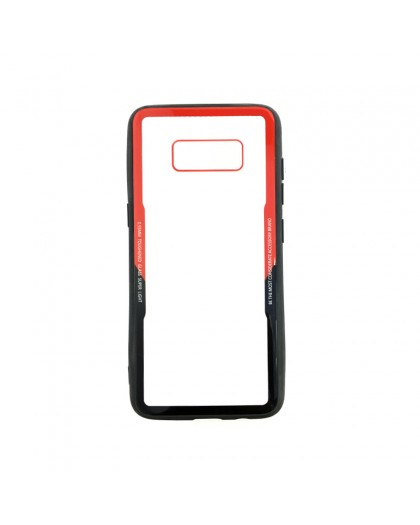 Tempered Glass TPU Bumper Case for Samsung Galaxy S8 Plus - Red