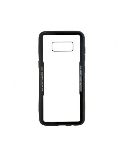 Gehard Glas TPU Bumper Hoesje Voor Samsung Galaxy S8 Plus - Zwart