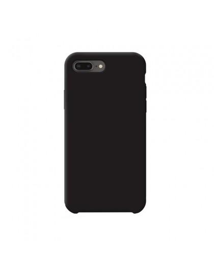 Liquid Silicone Case iPhone 8 Plus / 7 Plus - Zwart
