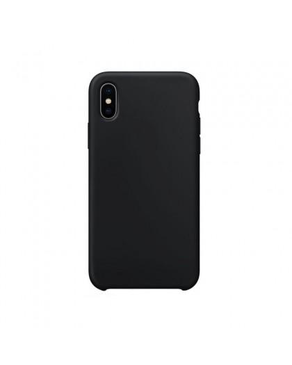 Liquid Silicone Case iPhone XS / X - Zwart