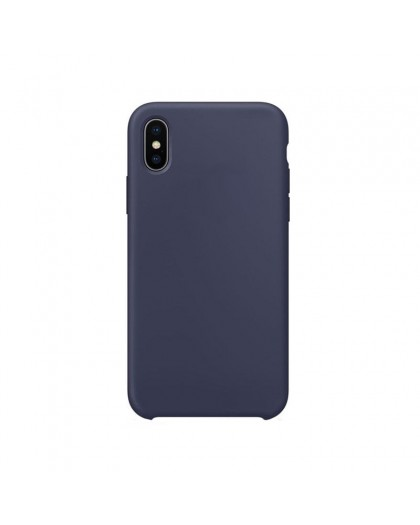 Liquid Silicone Case iPhone XS / X - Horizon Blauw