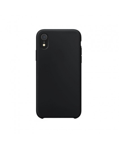 Liquid Silicone Case iPhone XR - Black