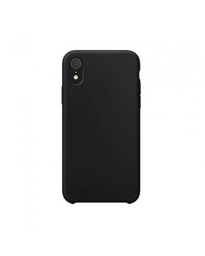 Liquid Silicone Case iPhone XR - Schwarz