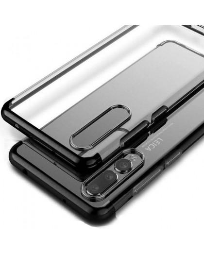 Schwarz Stoßstange Klarsichthülle Huawei P20