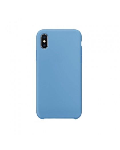 Liquid Silicone Case iPhone XS Max - Blau