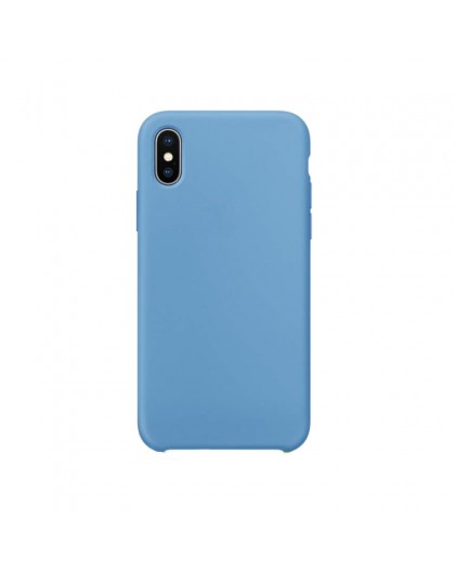 Liquid Silicone Case iPhone XS Max - Blauw