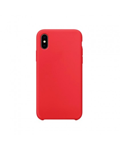 Liquid Silicone Case iPhone XS Max - Rood
