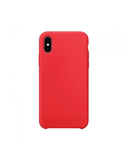 Liquid Silicone Case iPhone XS Max - Rot