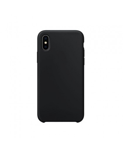 Liquid Silicone Case iPhone XS Max - Zwart